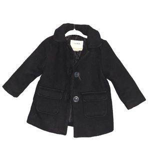 Baby Girl Old Navy Wool Coat with Pockets in Black